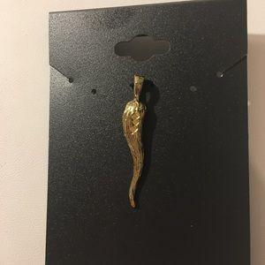 Jewelry - Italian horn charm 24k gold over precious metal.